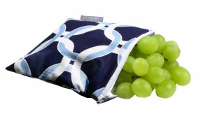 Itzy Ritzy_Snack Happened_Reusable Snack Bag_Social Circle Blue