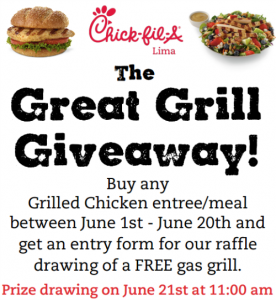 Grill Giveaway poster