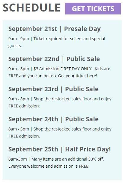 JBF Oaks 2016 Fall Sale