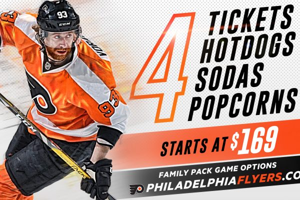 Philadelphia Flyers 2017-2018 Family Pack Ticket Deal and Giveaway